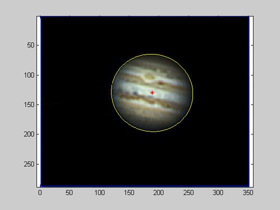 测量大红斑位置,转换成木星表面坐标
